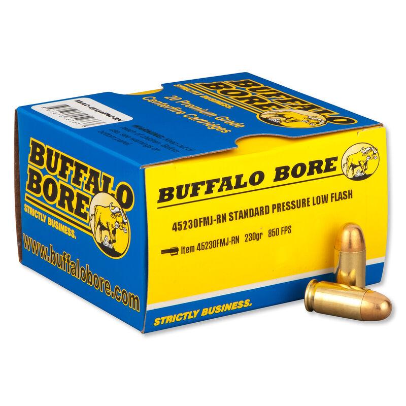 Buffalo Bore Low Flash .45 ACP 230 Grain FMJ 20 Round Box
