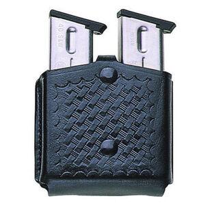 Bianchi Model 29 Triple Threat GLOCK 17, 19, 22, 23 Magazine Pouch Leather Basketweave Black 26507