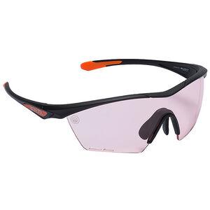 Beretta Clash Shooting Glasses Black Frame Coral Lenses