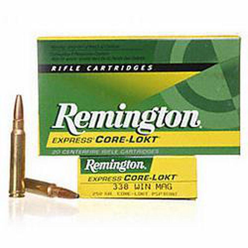 Remington Express .338 Winchester Magnum Ammunition 20 Rounds 250 Grain Core-Lokt PSP Soft Point Projectile 2660fps