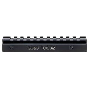 GG&G AR-15 Standard Length Picatinny Riser Rail Aircraft Grade Aluminum Hard Coat Anodized Matte Black