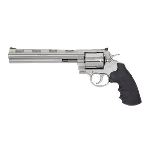 """Colt Anaconda .44 Magnum Revolver 8"""" Barrel 6 Rounds Hogue Rubber Grips Semi-Bright Stainless Steel Finish"""