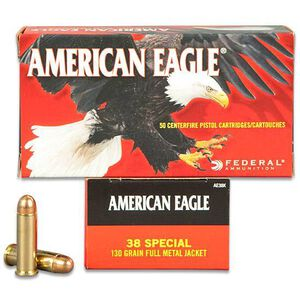 Federal American Eagle .38 SPL 130 Grain FMJ 50 Round Box