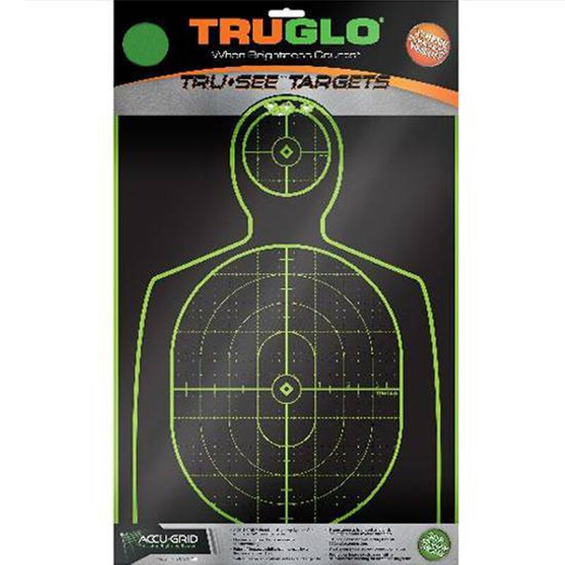"""TRUGLO Tru-See Hangun Targets 12"""" x 12"""" Fluorescent Green 6 Pack TG13A6"""