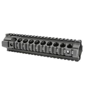 "Midwest Industries GEN2 Extended Length 10"" Two Piece Free Float AR-15 Handguard Black  MCTAR24G2"