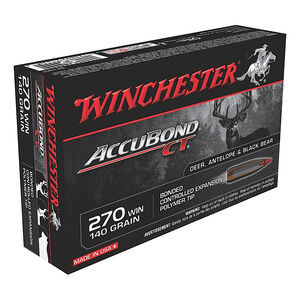 Winchester Expedition Big Game Long Range .270 Win Ammunition 20 Rounds 140 Grain Accubond 2950fps