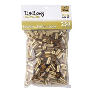 Top Brass .40 S&W Reconditioned Brass 250 Count Bag