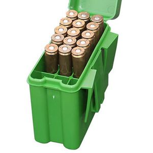 MTM Case-Gard Rifle Belt Carrier Series Flip Top Rifle Ammo Box Long Rifle 20 Rounds Green RL-20-10