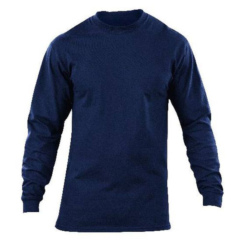 5.11 Tactical Station Wear Long Sleeve Jersey Knit T-Shirt 3 Extra Large Fire Navy 40052