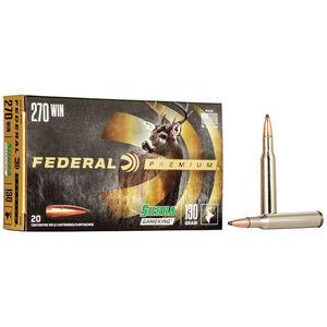 Federal Premium Sierra GameKing .270 Winchester Ammunition 20 Rounds 130 Grain Sierra GameKing Boat Tail Soft Point 3060fps