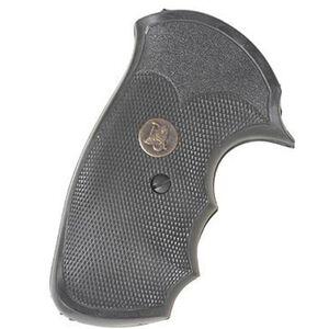 Pachmayr Gripper Grips S&W J Frame Round Butt Revolvers Finger Grooves Rubber Black 03249