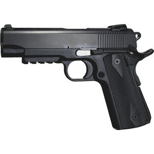 "EAA Witness Elite 1911 Commander .45 ACP Semi Auto Pistol 4.125"" Barrel 8 Rounds Black Polymer Frame with Rail Black Finish"