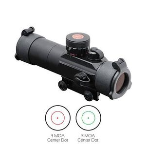 TRUGLO 30mm Tactical Dual Color Dot Sight 3 MOA Red/Green Center Dot Lens Caps and Sunshade Included TG8030TB