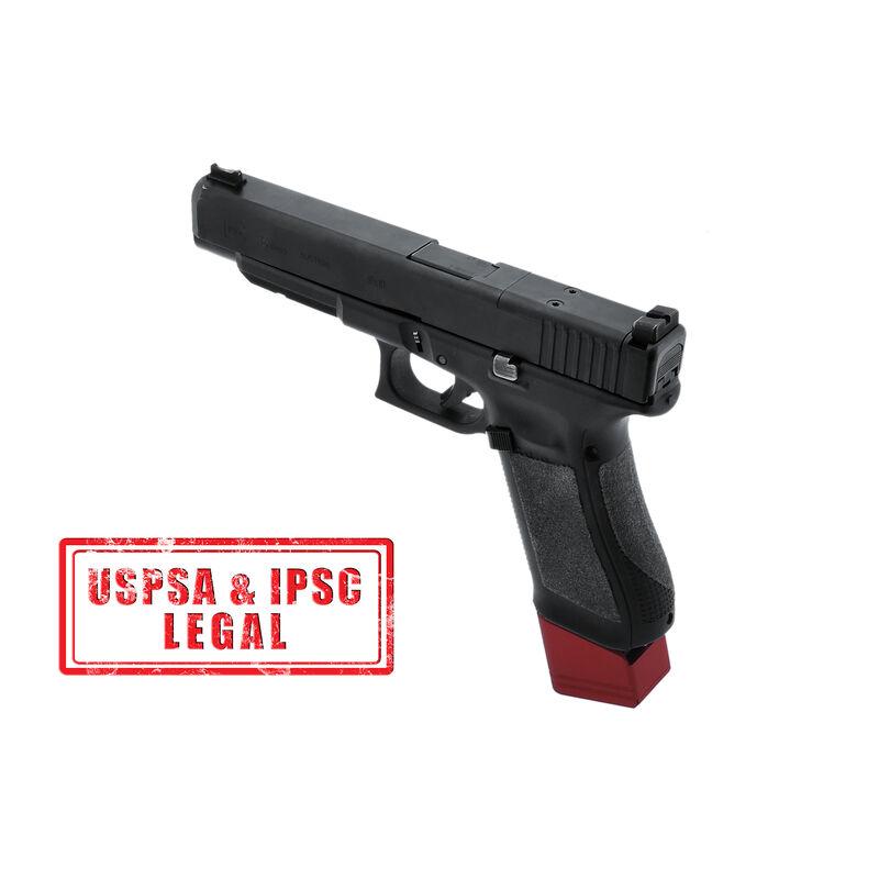 UTG PRO +5 Base Pad for Glock 17/34, Matte Red Aluminum