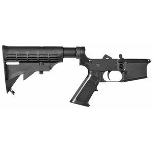 CMMG Mk4 Resolute 100 Series AR-15 Complete Lower Group .223 Rem/5.56 NATO  Forged Lower A2 Pistol Grip M4 6 Position Collapsible Stock Matte Black