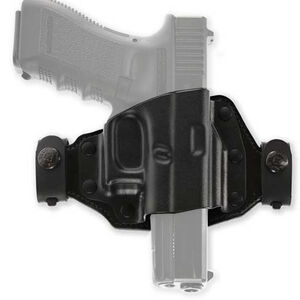 Galco Quick Slide Belt Holster Fits GLOCK 17/19/26 and Similar OWB Right Hand Leather and Kydex Black