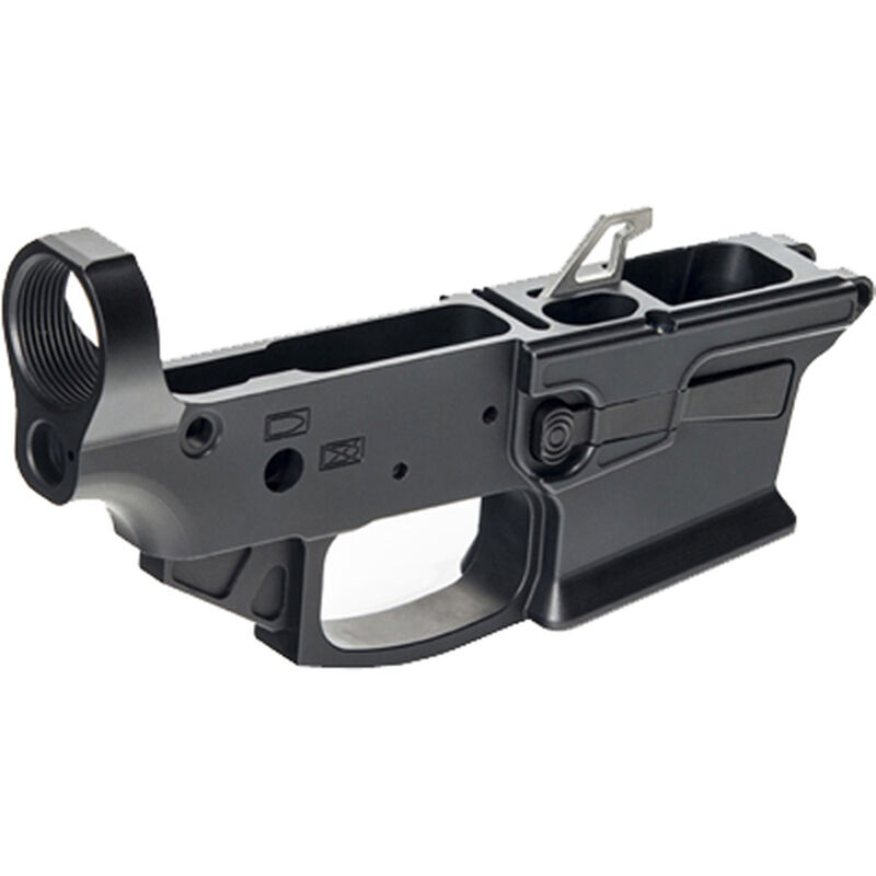 KE Arms KE-9 AR-15 Stripped Lower Receiver 9mm Luger Accepts GLOCK Magazines Billet Aluminum Matte Black