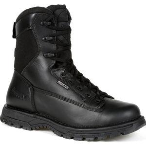 """Rocky International Portland 8"""" Side Zip Waterproof Public Service Boot Size 12 Black"""