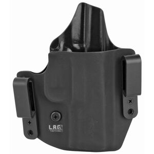 LAG Tactical Defender Series OWB/IWB Holster for Springfield Hellcat Right Hand Draw Kydex Construction Matte Black Finish