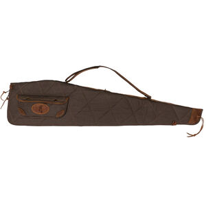 """Browning Lona Scoped Rifle Case 48"""" Foam Padded Canvas/Leather Flint/Brown"""