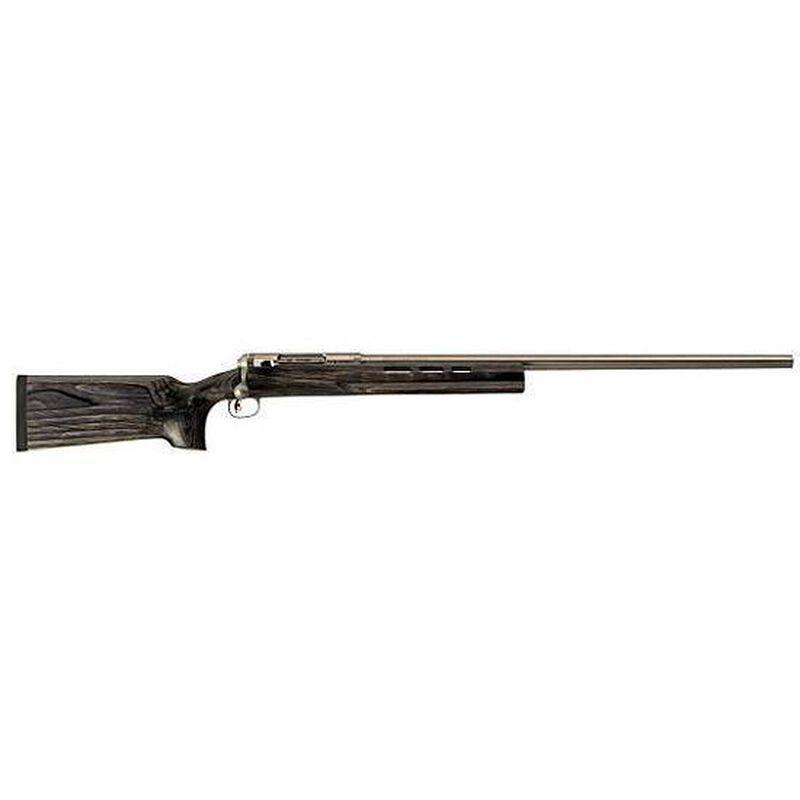"Savage Model 12 Benchrest Precision Target Bolt-Action Rifle Dual Port .308 Winchester 29"" Barrel Single-Shot Gray Laminate Stock Stainless Steel Barrel"