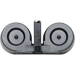 Iver Johnson AR-15 Drum Magazine .223 Rem/5.56 NATO 100 Rounds Steel/Polymer Black/Translucent