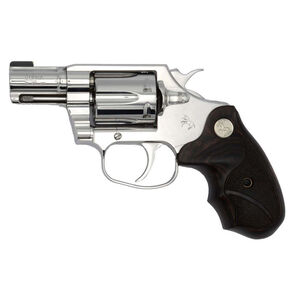 """Colt Bright Cobra .38 Special +P Double Action Revolver 2"""" Barrel 6 Round Cylinder Brass Bead Fixed Front Sight Trench Rear High Polish Mirror Finish"""