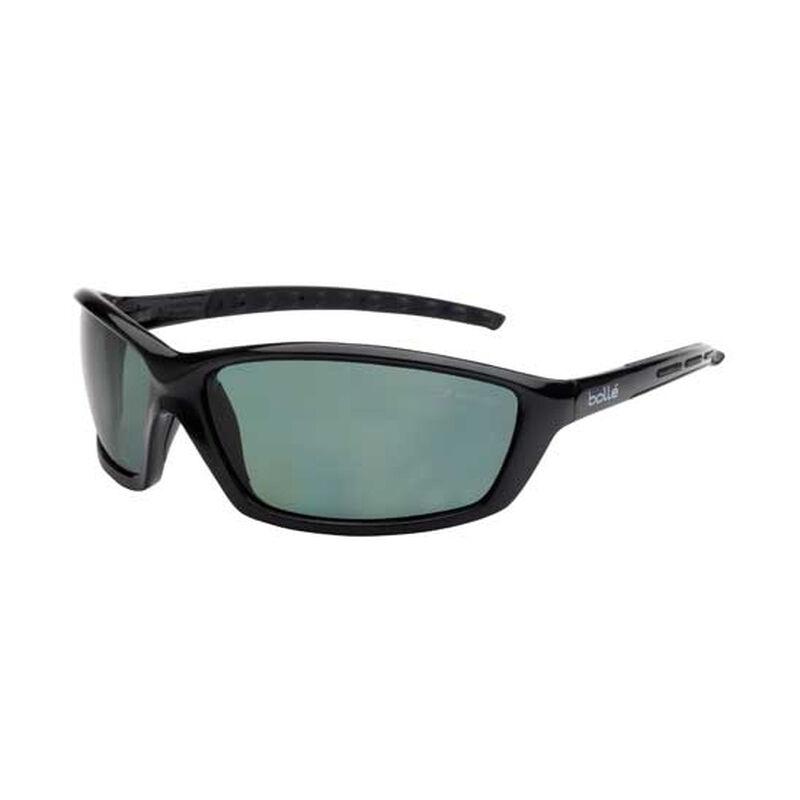 Bolle Solis Safety Glasses Black Polarized Lenses Gloss Black Frames