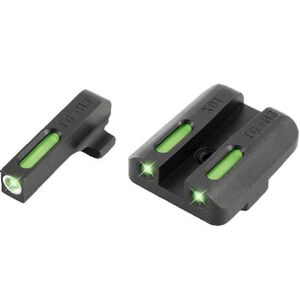 TRUGLO Brite-Site TFX Sight Low Springfield XD/XDM/XDS Green Front and Rear TG13XD1A