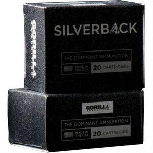 Gorilla Silverback 9mm Subsonic Ammunition 20 Rounds SCHP 135 Grain