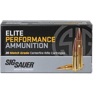 Sig Sauer Elite Match .223 Remington Ammunition 20 Rounds OTM 77 Grains E223M1-20