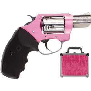 "Charter Arms Chic Lady Revolver .38 Special +P 2"" Barrel 5 Rounds Alloy Frame Pink and Stainless Finish Black Rubber Grips with Pink Case 53839"