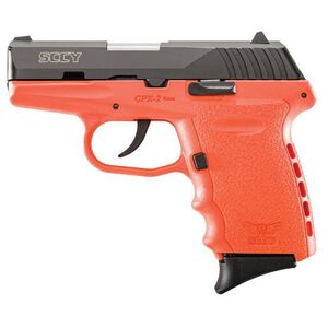 "SCCY CPX-2 Semi Auto Pistol 9mm Luger 3.1"" Barrel 10 Rounds Manual Safety Polymer Frame Orange/Black"