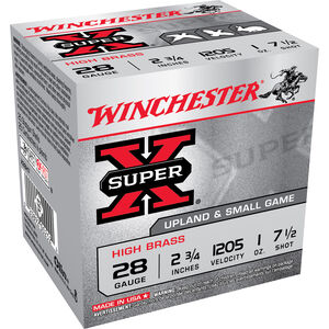 "Winchester Super-X 28 ga 2-3/4"" #7.5 Shot 1oz 25 Rnd Box"