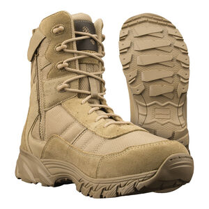 "Original S.W.A.T. Men's Altama Vengeance Side-Zip 8"" Tan Boot Size 8 Regular 305302"
