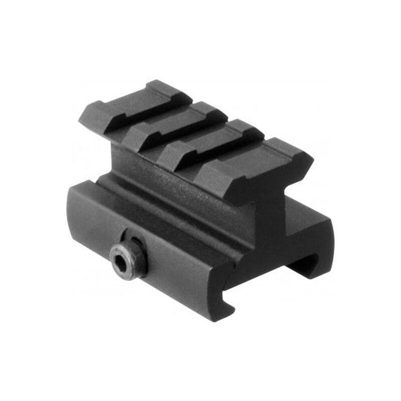 "AIM Sports AR-15 Riser Mount Medium 1.6"" Length 0.75"" Rise Aluminum Black"