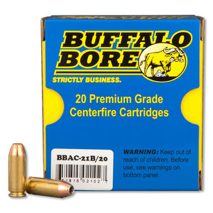 Buffalo Bore 10mm Auto Ammunition 20 Rounds JHP 180 Grains 21B/20