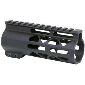 "Guntec AR-15 5"" Air Lite M-LOK Free Floating Handguard with Monolithic Top Rail Aluminum Anodized Black"