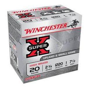 "Winchester 20 Gauge Super-X 2-3/4"" #7.5 1 Oz 25 Rounds"