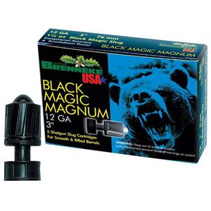 "Brenneke 12 Gauge 3"" 1.375 oz Black Magic Slug 5 Round Box"