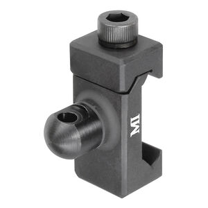 Midwest Industries Front Sling Adapter with Sling Swivel Stud Picatinny Compatible Hard Coat Anodized Aluminum Matte Black