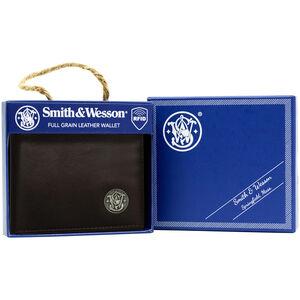 Cameleon Smith & Wesson Front Pocket Wallet Genuine Leather Brown