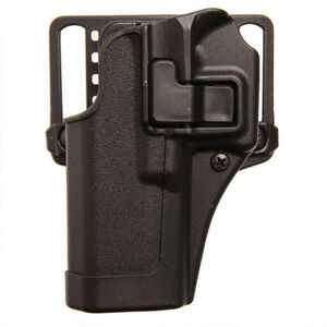 "BLACKHAWK! SERPA CQC Concealment OWB Paddle/Belt Loop Holster SIG Sauer P250/P320 4.7"" Barrel Models Left Hand Polymer Matte Black Finish"