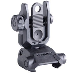 Kriss USA Defiance Low Profile Flip Up Rear Sight Polymer Matte Black Finish