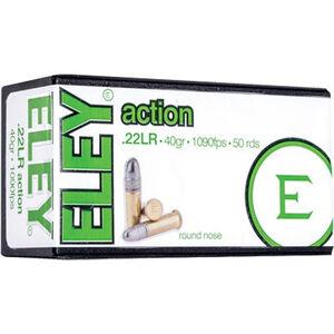 Eley Action .22 LR Ammunition 50 Rounds 40 Grain LRN 1080fps
