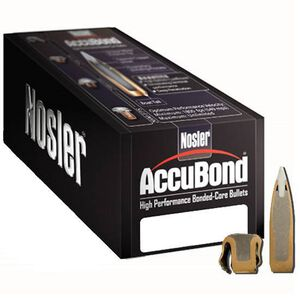 "Nolser 6.5mm Caliber .264"" Diameter 140 Grain Accubond Boat Tail Polymer Tip Bullet 50 Count 57873"
