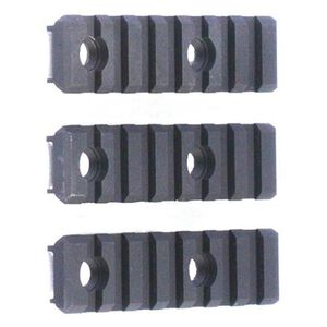 "Diamondhead VRS Short Add On Rail 2"" Picatinny Aluminum Black 3 Pack 2831"
