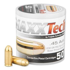 MAXXTech .45 ACP Ammunition 50 Rounds FMJ 230 Grains PTGB45