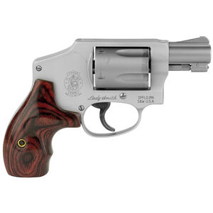 """S&W Model 642 LadySmith Revolver .38 Special 1-7/8"""" Barrel 5 Rounds Wood Grips Matte Stainless Steel Finish"""