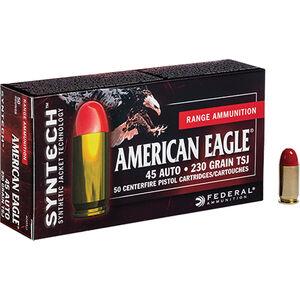 Federal American Eagle .45 ACP Ammunition 50 Rounds TSJ 230 Grains AE45SJ1